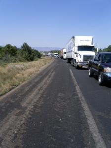 Freeway backup on I-17 due to an RV fire on www.ricknovy.com